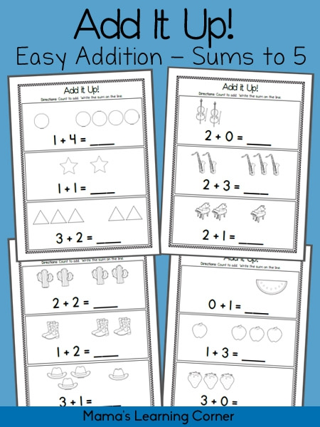 Add It Up Addition Worksheets