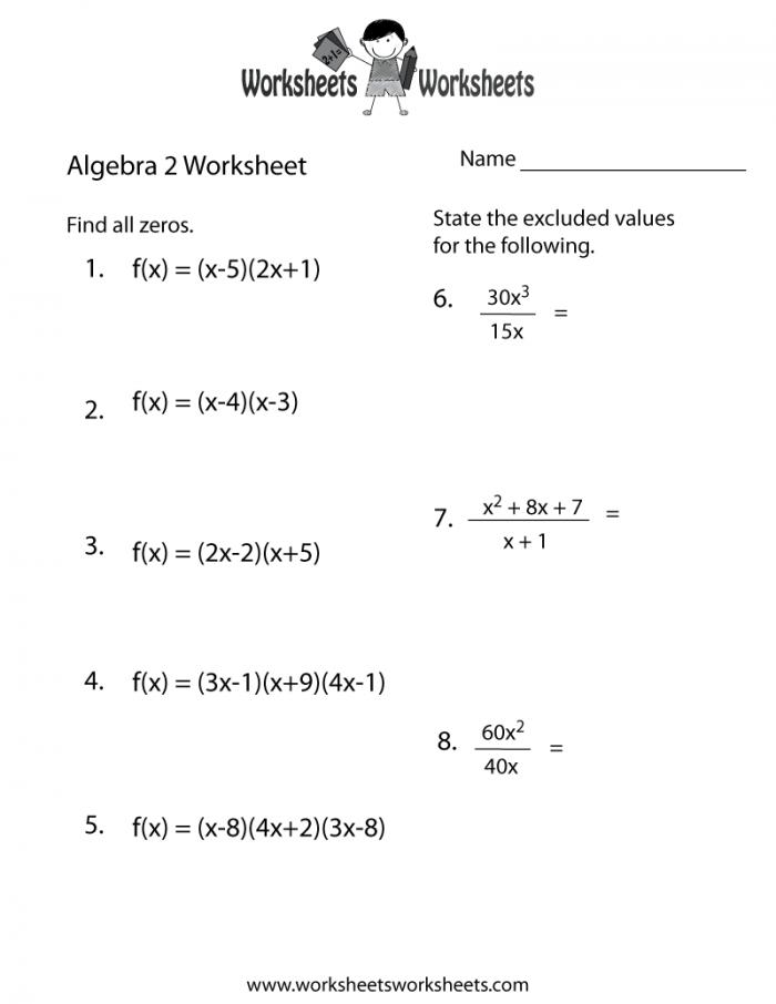 Algebra Worksheets Ideas