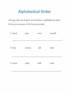 Alphabetized!