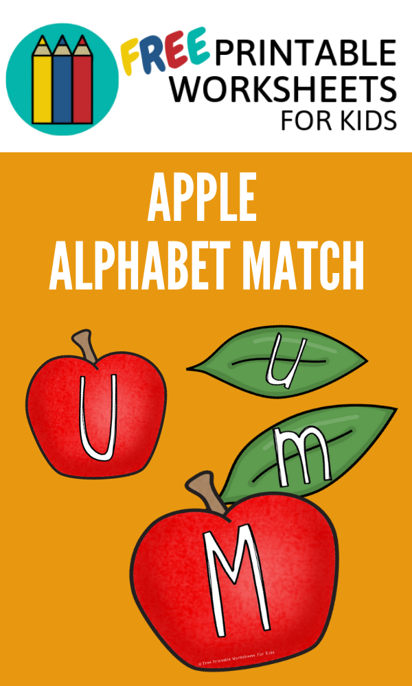 Apple And Leaf Alphabet Match