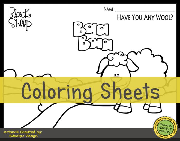 Baa Baa Black Sheep Activity Worksheets For Preschool By Playtime
