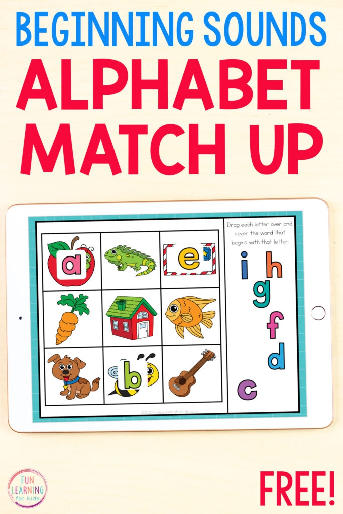 Beginning Sounds Letter Matching Activity For Slides  Seesaw And Boom