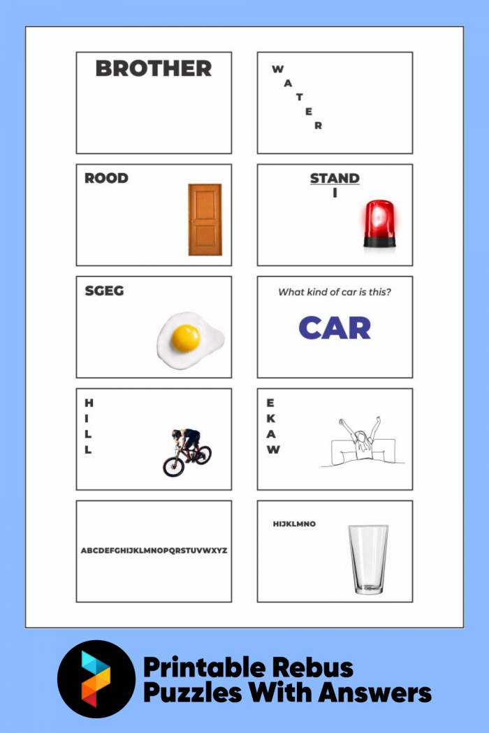 Best Printable Rebus Puzzles With Answers