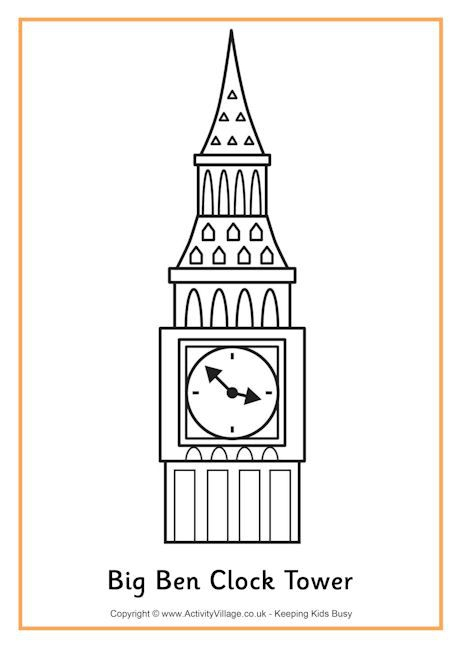 Big Ben Colouring Page