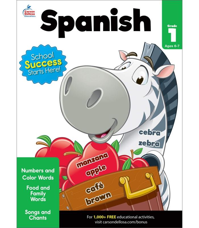 Carson Dellosa Beginning Spanish Workbookgrade  Spanish Learning