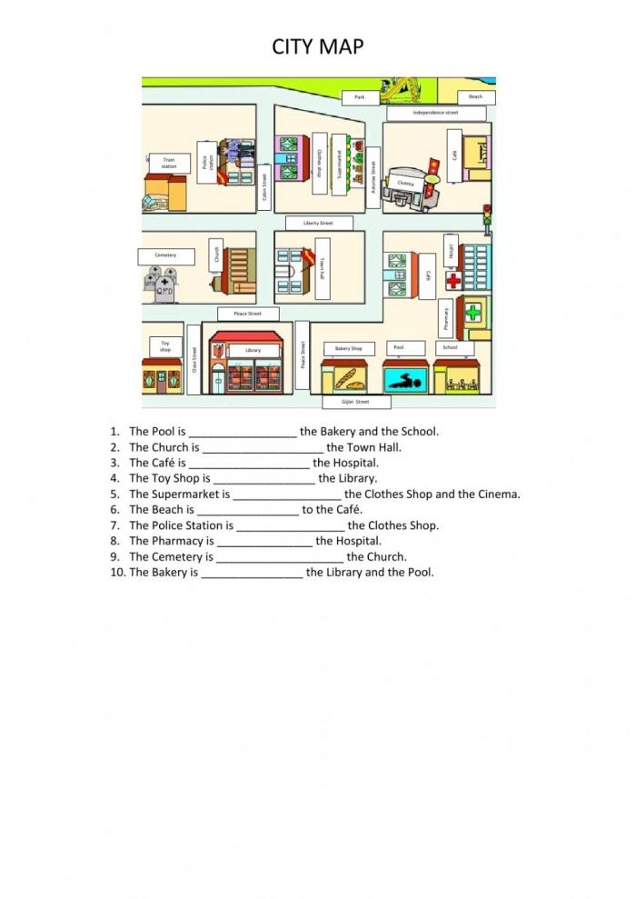 City Map Interactive Worksheet