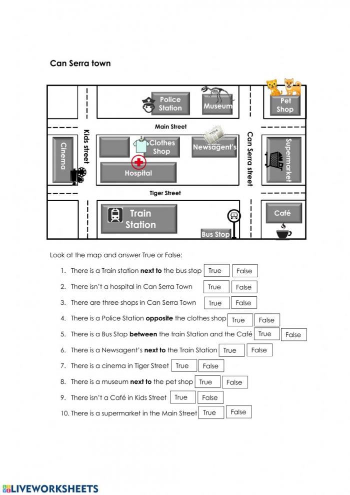 City Map Worksheet