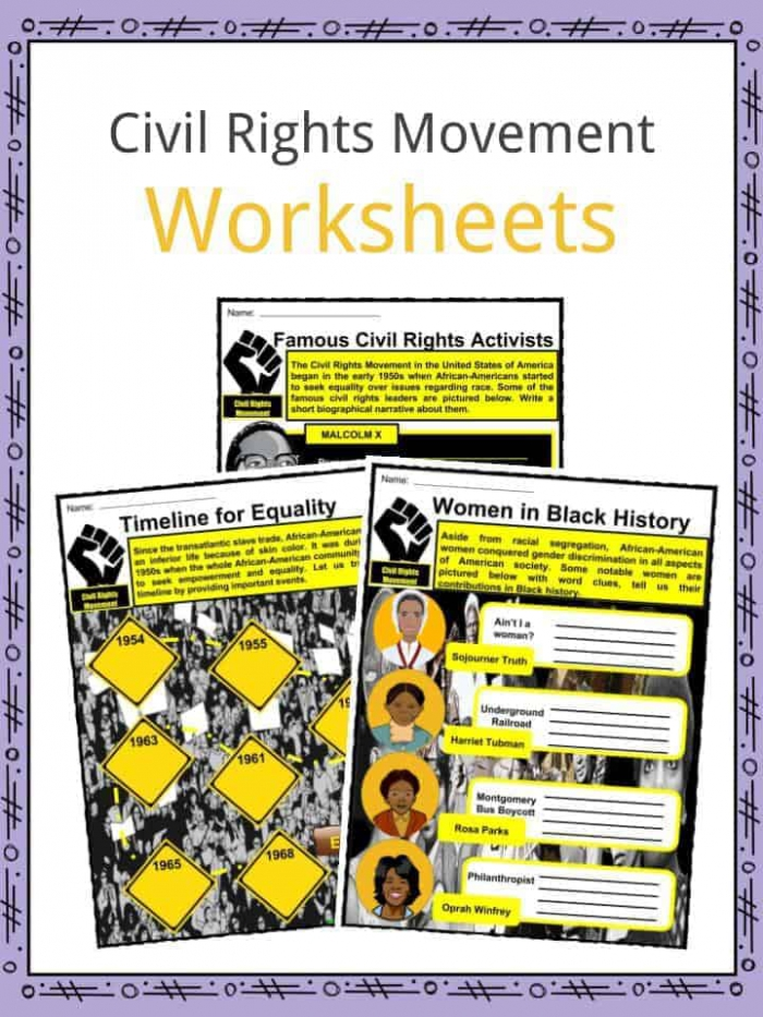 Civil Rights Movement Facts   Worksheets For Kids