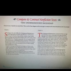 Compare And Contrast Nonfiction Texts: The Underground Railroad