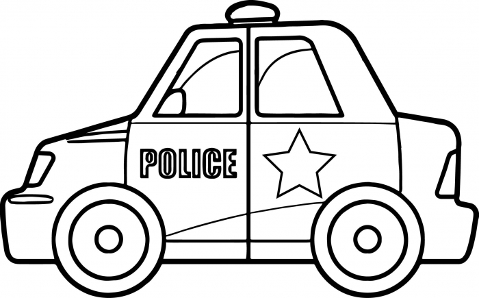 Cool Super Police Car Coloring Page