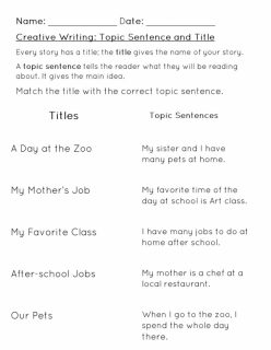 Finish The Sentence: My Day At School