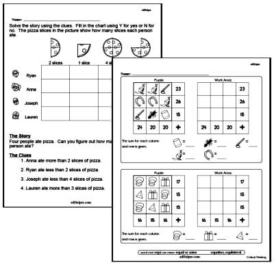 Critical Thinking Worksheets For St Grade