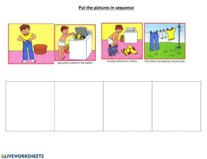 Daily Sequencing Worksheet