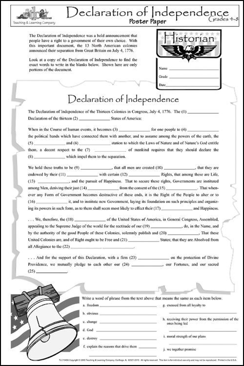 Declaration Of Independence Ideas