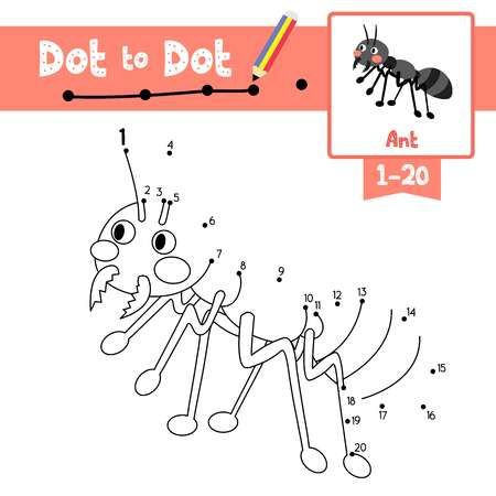 Dot To Dot Educational Game And Coloring Book Of Black Ants