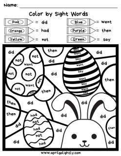 Easter Sight Words