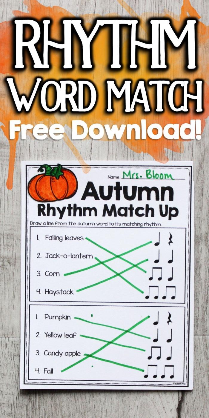 Fall Rhythm Worksheet