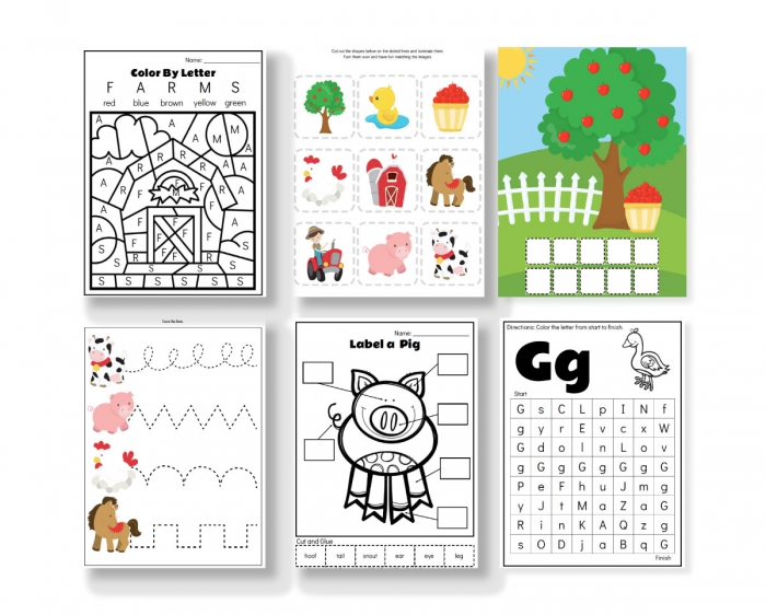 Farm Animal Printables For Preschool