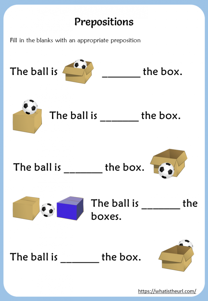 Fill In The Blanks With An Appropriate Preposition Worksheet