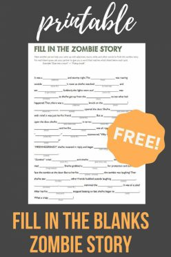 Fill In The Zombie Story