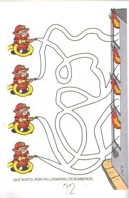 Fire Safety Week Maze Worksheet