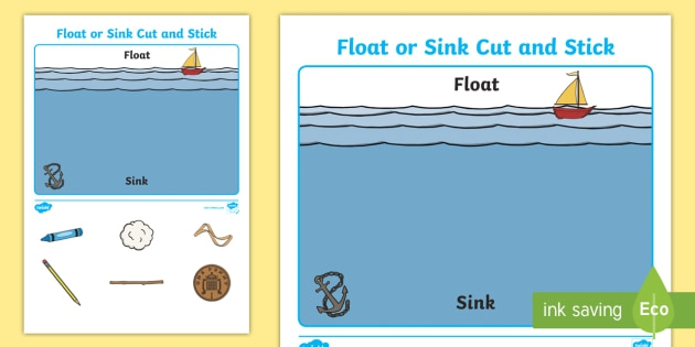 Float Or Sink Cut And Stick Worksheet Teacher Made