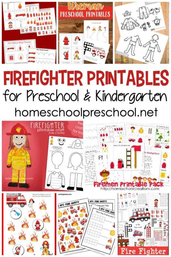 Free Firefighter Printables For Preschool And Kindergarten