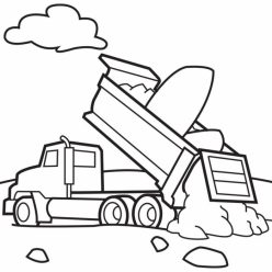 Color A Car: Dump Truck