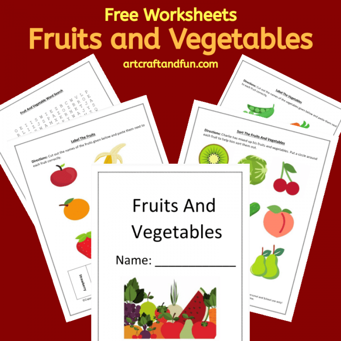 Free Printable Fruit And Vegetable Worksheets For Kids