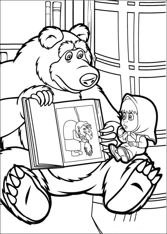 Free Printable Masha And Bear Coloring Pages To Print And Color