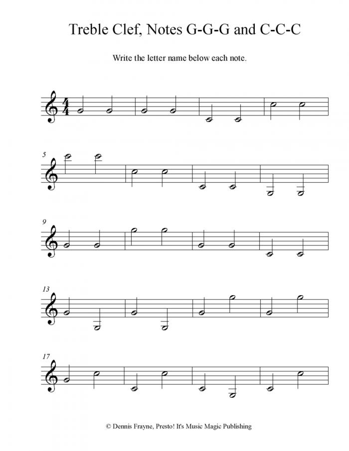 Free Printable Music Note Naming Worksheets  Presto Its Music