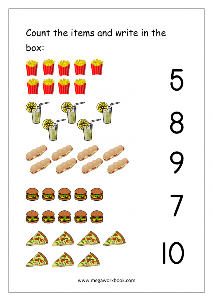 Free Printable Number Matching Worksheets For Kindergarten And