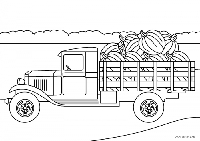 Free Printable Truck Coloring Pages For Kids Monster Fire Semi