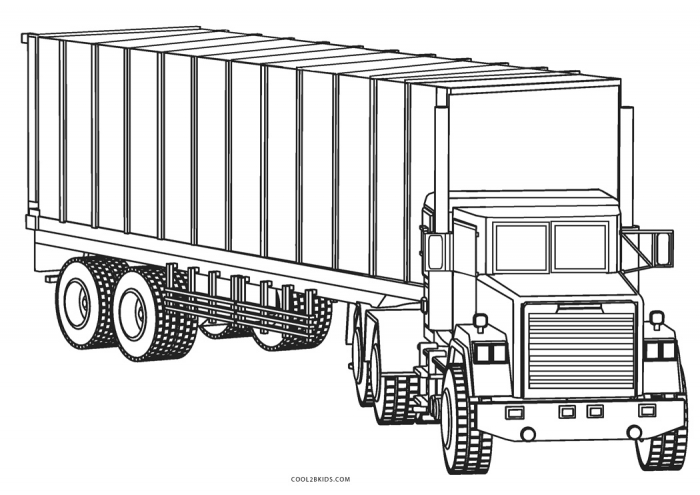 Free Printable Truck Coloring Pages For Kids Page Big Outstanding