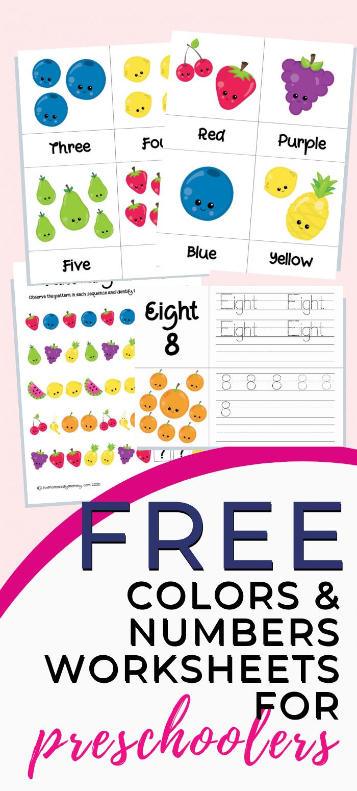 Fruity Fun Free Preschool Printable Worksheets Numbers  To
