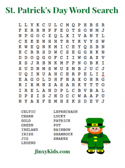 The Great St. Patrick's Day Word Search!