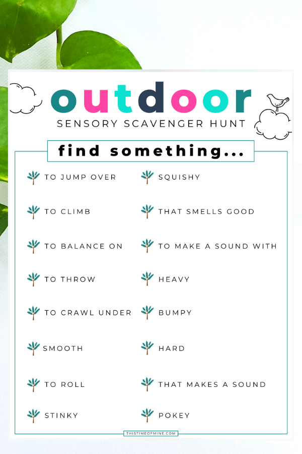 Fun Outdoor Sensory Scavenger Hunt For Kids