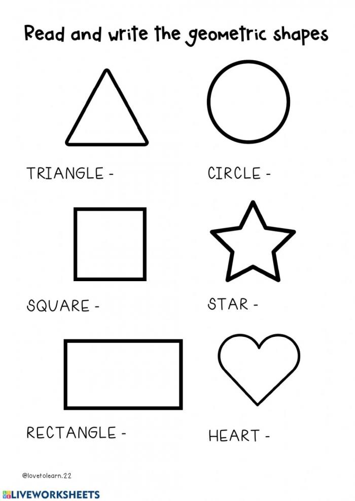 Geometric Shapes Interactive Worksheet