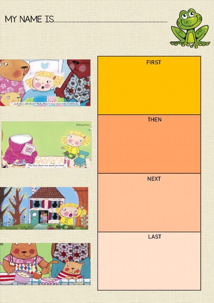 Goldilocks And The Three Bears Interactive Activity