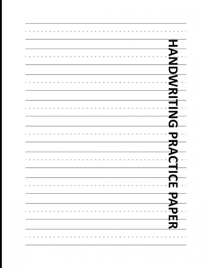 Handwriting Practice Paper Lined Exercise Worksheets For Right