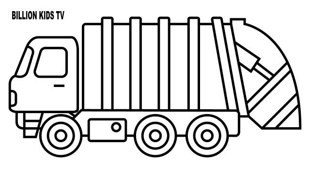 Inspiration Image Of Dump Truck Coloring Pages