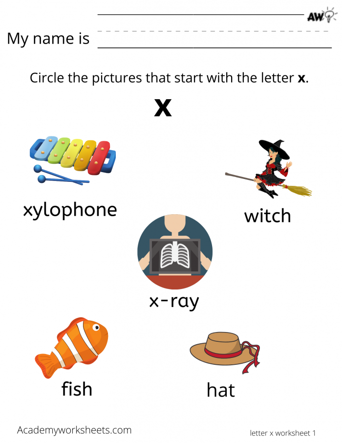Learn The Letter X X