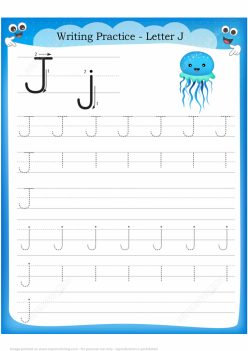 Practice Tracing The Letter J
