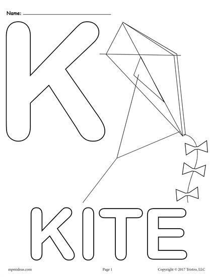 Letter K Alphabet Coloring Pages