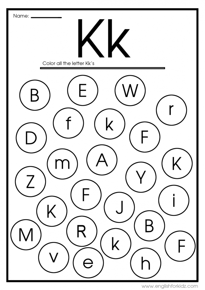 Letter K Worksheets  Flash Cards  Coloring Pages
