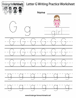 Practice Tracing The Letter G
