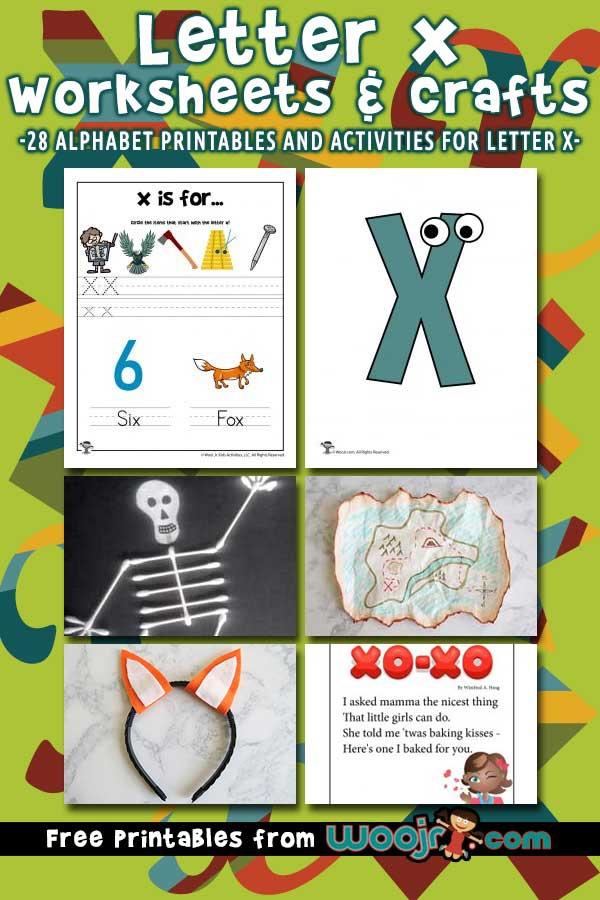Letter X Worksheets   Crafts