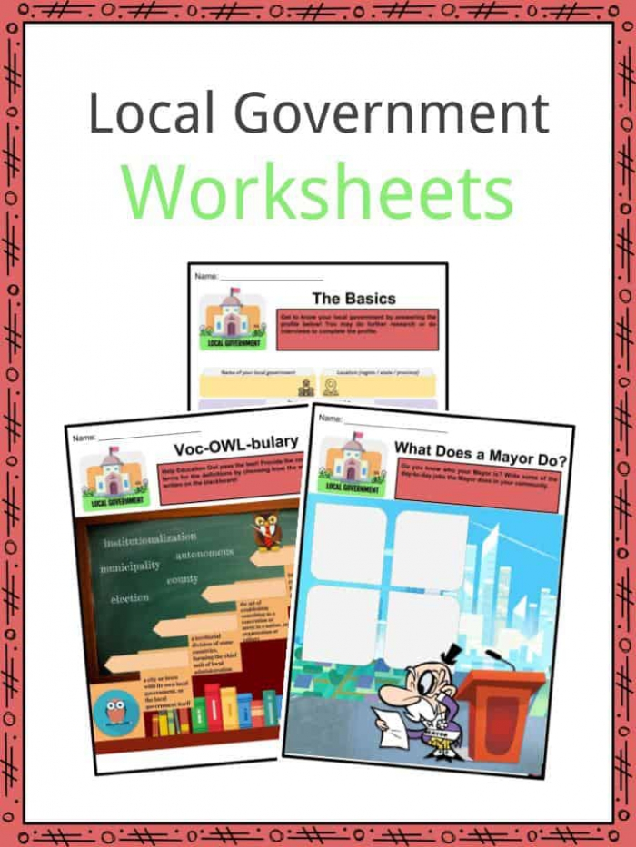 Local Government Facts  Worksheets  Structure   Information For Kids