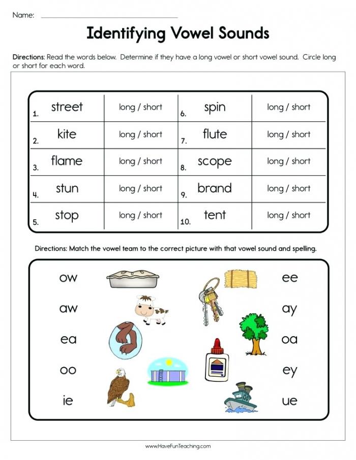 Long And Short Worksheets