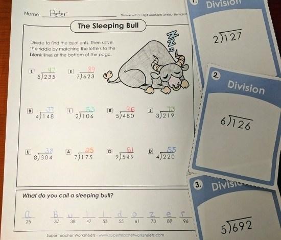 Long Division Worksheets Partial Quotients Grade